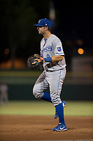 AZL Royals first baseman Logan Porter (8) during an Arizona League game against the AZL Giants Black at Scottsdale Stadium on August 7, 2018 in Scottsdale, Arizona. The AZL Giants Black defeated the AZL Royals by a score of 2-1. (Zachary Lucy/Four Seam Images)