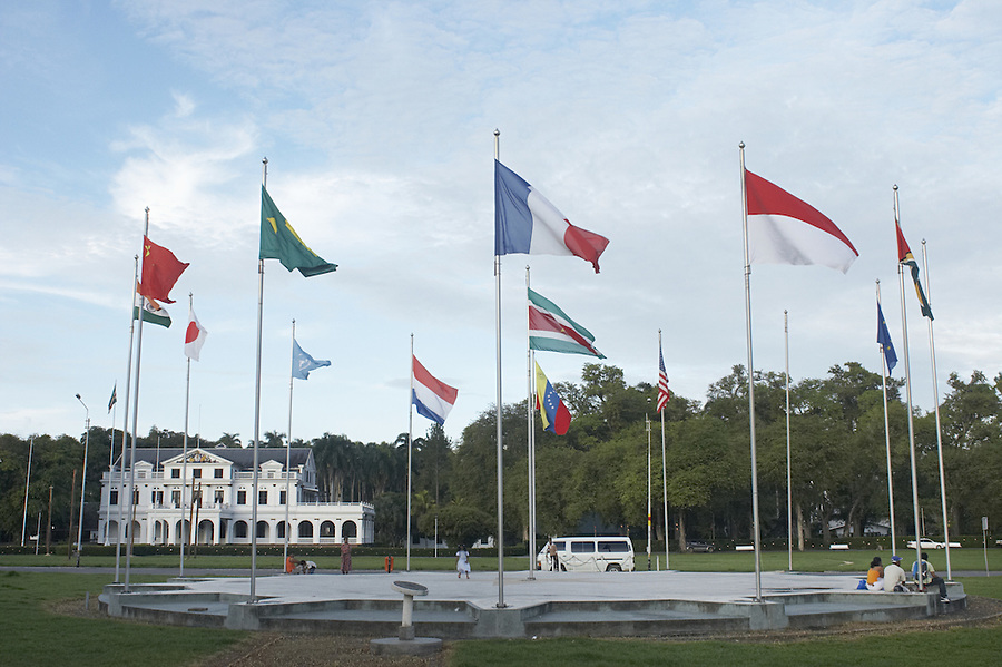 Presidential palace in the capital city of Paramaribo, Suriname.