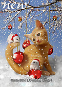 CHIARA,CHRISTMAS ANIMALS, WEIHNACHTEN TIERE, NAVIDAD ANIMALES, paintings+++++,USLGCHI08,#XA# ,funny ,funny