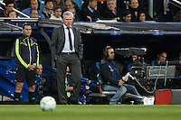 25.04.2012 SPAIN -  UEFA Champions League Semi-Final 2nd leg  match played between Real Madrid CF vs  FC Bayern Munchen 2 (1) - 1 (3) at Santiago Bernabeu stadium. The picture show Jupp Heynckes coach of Bayern Munchen
