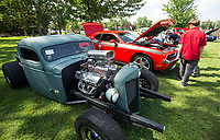 NWA Democrat-Gazette/BEN GOFF @NWABENGOFF<br /> Cars sit on display Thursday, July 4, 2019, during the 125th annual Gentry Freedom Fest at Gentry City Park.
