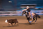 WY: Wyoming, Cody..Cody Night Rodeo..Photo #: yellow916..Photo copyright Lee Foster, 510/549-2202, lee@fostertravel.com, www.fostertravel.com..
