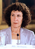 "Actress Rhea Perlman, of the After School Alliance, listens to remarks of Ben Casey at the ""White House Conference on Teenagers: Raising Responsible and Resourceful Youth"" in Washington, DC on 2 May, 2000.<br /> Credit: Ron Sachs / CNP"