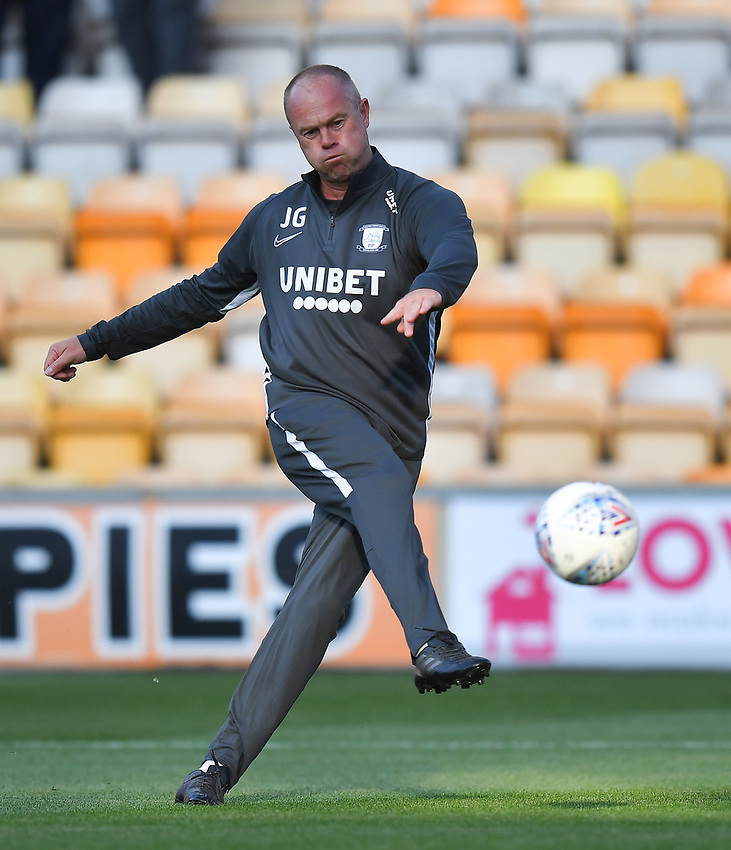 Goal keeping coach Jonathan Gould<br /> <br /> Photographer Dave Howarth/CameraSport<br /> <br /> The Carabao Cup First Round - Bradford City v Preston North End - Tuesday 13th August 2019 - Valley Parade - Bradford<br />  <br /> World Copyright © 2019 CameraSport. All rights reserved. 43 Linden Ave. Countesthorpe. Leicester. England. LE8 5PG - Tel: +44 (0) 116 277 4147 - admin@camerasport.com - www.camerasport.com