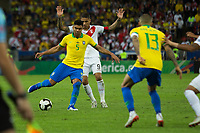 Rio de Janeiro (RJ), 07/07/2019 - Copa América / Final / Brasil x Peru -   Casemiro do Brasil durante partida contra o Peru jogo válido pela Final da Copa América no Estádio do Maracanã no Rio de Janeiro neste domingo, 07. (Foto: Gustavo Serebrenick/Brazil Photo Press)