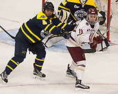 Felila Manu (Merrimack - 4), Makenna Newkirk (BC - 19) - The number one seeded Boston College Eagles defeated the eight seeded Merrimack College Warriors 1-0 to sweep their Hockey East quarterfinal series on Friday, February 24, 2017, at Kelley Rink in Conte Forum in Chestnut Hill, Massachusetts.The number one seeded Boston College Eagles defeated the eight seeded Merrimack College Warriors 1-0 to sweep their Hockey East quarterfinal series on Friday, February 24, 2017, at Kelley Rink in Conte Forum in Chestnut Hill, Massachusetts.