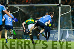 Peter Crowley Kerry in action against Michael Fitzsimons Dublin in the National League in Austin Stack park on Saturday night.