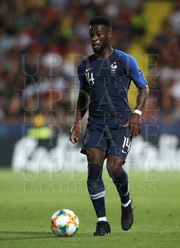 Football: Uefa under 21 Championship 2019, England - France, Dino Manuzzi stadium Cesena Italy on June18, 2019.<br /> France's Jonathan Bamba in action during the Uefa under 21 Championship 2019 football match between England and France at Dino Manuzzi stadium in Cesena, Italy on June18, 2019.<br /> UPDATE IMAGES PRESS/Isabella Bonotto