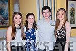 Kenmare athletes Alyce O'Connor, Elinor Dennison, Gary Randles and Rhona Randles at the Kerry AA awards in the Dromhall Hotel on Saturday night