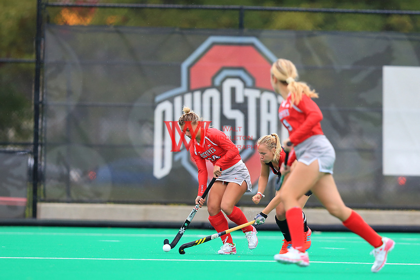 The Ohio State University field hockey team defeats Louisville 2-1 in overtime. September 1, 2017
