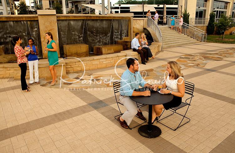 Enjoying an evening at Metropolitan, a live-work-play destination in Charlotte NC.