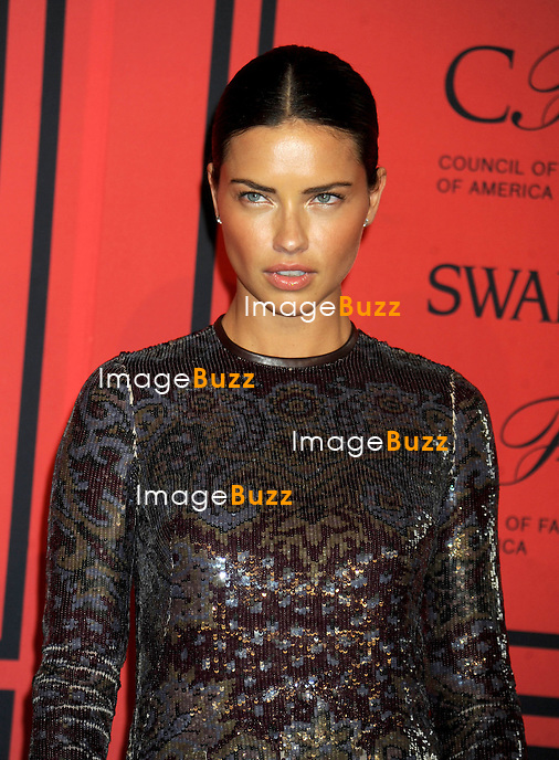 Adriana Lima at the 2013 CFDA Fashion Awards.<br /> New York City, June 3, 2013.