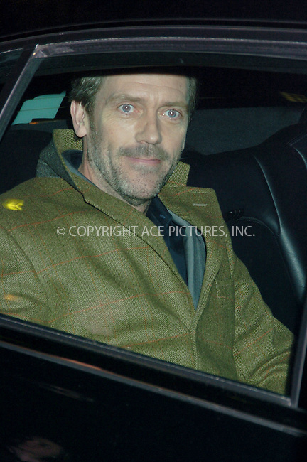 WWW.ACEPIXS.COM . . . . .  ....NEW YORK, FEBRUARY 20, 2006....Hugh Laurie arriving at the Ed Sullivan Theatre for the David Letterman Show.....Please byline: AJ Sokalner - ACEPIXS.COM.... *** ***..Ace Pictures, Inc:  ..Philip Vaughan (212) 243-8787 or (646) 769 0430..e-mail: info@acepixs.com..web: http://www.acepixs.com