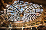 The Dayton Arcade glass rotunda. Interior view of historic landmark.