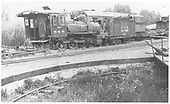 RGS 4-6-0 #22 in deadline at Ridgway.<br /> RGS  Ridgway, CO  1942-1946
