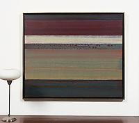 "2322_035dp Shibata, Color, Line, Texture #24 Framed Dimensions: 40.5""  x 48"" Can be hung Vertically or Horizontally"