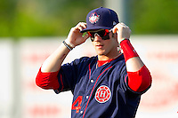 Bryce Harper #34 of the Hagerstown Suns prior to the start of the South Atlantic League game against the Rome Braves at State Mutual Stadium on April 30, 2011 in Rome, Georgia.   Photo by Brian Westerholt / Four Seam Images