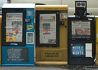 Toronto, 2000-10-02<br /> Since Former Canadian Prime Minister Pierre Eliott Trudeau death last week, the tributes given to him all around Canada has been on every major newspapers cover as seen here on Toronto Bloor Street yersterday (October 2nd, 2000)<br /> Photo by Pierre Roussel / Newsmakers