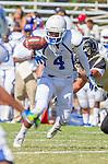 Palos Verdes, CA 09/13/13 - Stanley Norman (Culver City #4) in action during the Culver City vs Palos Verdes Peninsula High School Varsity Football game at Palos Verdes Peninsula HIgh School.