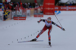 Heidi Weng competes during the 5 Km Individual Free race of Tour de ski as part of the FIS Cross Country Ski World Cup  in Dobbiaco, Toblach, on January 8, 2016. American Jessica Diggins wins the race, ahead of Norway's Heidi Weng and third place for actual leader Ingvild Flugstad Oestberg from Norway. Credit: Pierre Teyssot