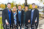 Bachelor of Science Health and Leisure, Kealan Dowling, Aisling O'Neill, Declan Ensko, Niamh  Kinsella, Eddie O'Sullivan at the Institute of Technology Tralee Autumn Conferring of Awards Ceremony at the Brandon Hotel on Friday