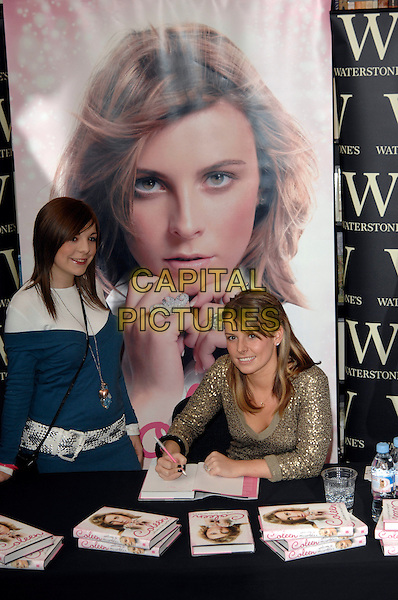 "COLEEN McLOUGHLIN.signs copies of her book ""Welcome to my World"".at Waterstones bookshop, Oxford Street.8th March 2007 London, England.half length poster.CAP/PL.©Phil Loftus/Capital Pictures"