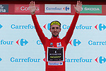 Simon Yates (GBR) Mitchelton-Scott takes over the race leaders Red Jersey by 1 second at the end of Stage 9 of the La Vuelta 2018, running 200.8km from Talavera de la Reina to La Covatilla, Spain. 2nd September 2018.<br /> Picture: Unipublic/Photogomezsport | Cyclefile<br /> <br /> <br /> All photos usage must carry mandatory copyright credit (&copy; Cyclefile | Unipublic/Photogomezsport)