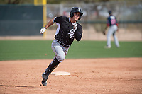 Chicago White Sox outfielder Nolan Brown (86) during a Minor League Spring Training game against the Chicago White Sox at Camelback Ranch on March 16, 2018 in Glendale, Arizona. (Zachary Lucy/Four Seam Images)