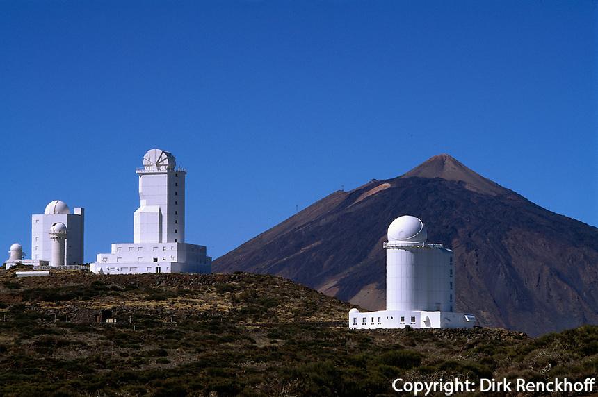 Spanien, Kanarische Inseln, Teneriffa, Teide-Park, Observatorio Izana (Izana), Teide, Unesco-Weltkulturerbe