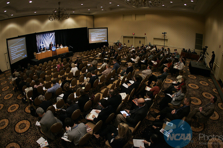 12 January 2008: The Association-Wide Menu Session regarding the NCAA Elgibility Center Purpose, Transition and Customer-Service Philosophy at the 2008 NCAA Convention at the Gaylord Opryland Resort Hotel and Convention Center in Nashville, TN..Trevor Brown, Jr./NCAA Photos.