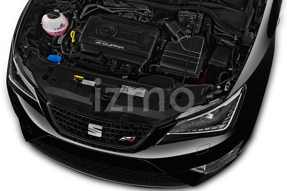 Car Stock 2016 Seat Ibiza-SC Cupra 5 Door Hatchback Engine  high angle detail view