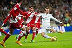 Football match between Real Madrid and Rayo Vallecano at 8th Novembre, 2014 in Stadium Santiago Bernabéu.<br /> Modric.