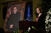 Catherine Courtney, daughter of  the late Associate Justice of the Supreme Court Antonin Scalia, speaks at the memorial service for his father at the Mayflower Hotel in Washington, DC, Tuesday, March 1, 2016. <br /> Credit: Susan Walsh / Pool via CNP