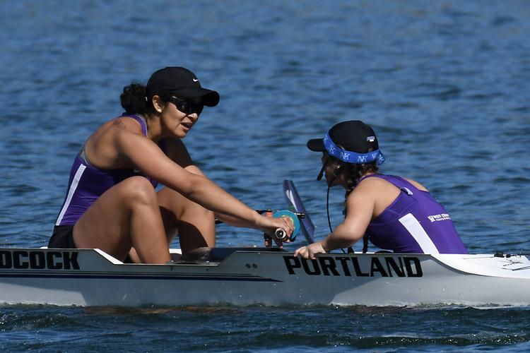 May 13, 2017; Gold River, CA, USA; I Eight Portland Pilots during the WCC Rowing Championships at Lake Natoma.