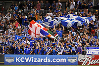Kansas City Wizards fans...Kansas City Wizards defeated Toronto FC 1-0 at Community America Ballpark, Kansas City, Kansas.
