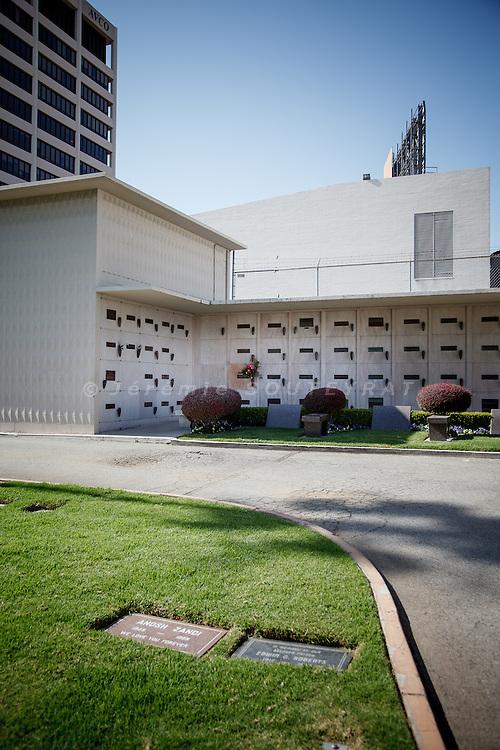 Los Angeles, April 8 2012- The cript of Marilyn Monroe at Westwood Village Memorial Park Cemetery.