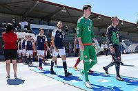 Alex Iacovitti (No 4) of Nottingham Forest and Scotland walks onto the pitch prior to kick-off during Czech Republic Under-20 vs Scotland Under-20, Toulon Tournament Football at Stade de Lattre-de-Tassigny on 10th June 2017