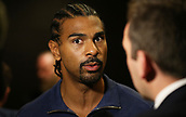 4th October 2017, Park Plaza, London, England; Tony Bellew versus David Haye, The Rematch, Press Conference; David Haye being interviewed by Sky Sports