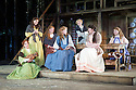 London, UK. 20.07.2015. Regent's Parks Open Air Theatre presents SEVEN BRIDES FOR SEVEN BROTHERS, directed by Rachel Kavanaugh. Picture shows: Frankie Jenna (Sarah), Natasha Mould (Martha), Karli Vale (Ruth), Laura Pitt-Pulford (Milly), Rosanna Bates (Liza), Charlene Ford (Dorcas), Bethany Huckle (Alice). Photograph © Jane Hobson.