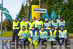 Staff from Liebherr picketing outside the plant on Wednesday