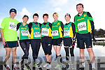 Martin O'Connor, Ann O'Riordon, Janette Ryan, Caroline Martin, Tina Donovan, Siohban Daly and Tomas O'Connor at the Valentines 10 mile road race in Tralee on Saturday.