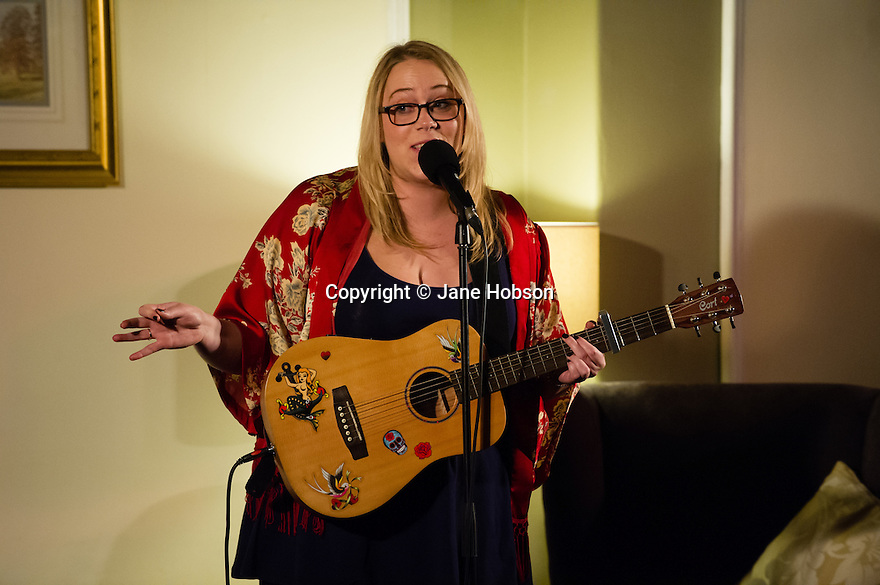 Harrogate, UK. 09.01.2013. Sitting Room Comedy Club, at the St George Hotel, plays host to MC Tom Taylor, Lloyd Griffiths, Carly Smallman and Mike Gunn for the January show. Picture shows: Carly Smallman. Photo credit: Jane Hobson.