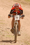 June 6, 2009:  Colin Cares in a tuck during the Men's Pro Mountain Bike Race during the Teva Mountain Games, Vail, Colorado.