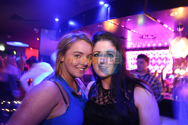 Emma Plunkett and Sarah Murphy in Earth for a night out.<br /> Picture: Shane Maguire / www.newsfile.ie