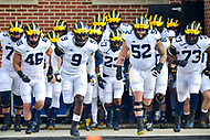 College Park, MD - NOV 11, 2017: The Michigan Wolverines take the field before game against Maryland at Capital One Field at Maryland Stadium in College Park, MD. (Photo by Phil Peters/Media Images International)
