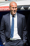 Head coach Zinedine Zidane of Real Madrid looks on before the La Liga match between Real Madrid and Osasuna at the Santiago Bernabeu Stadium on 10 September 2016 in Madrid, Spain. Photo by Diego Gonzalez Souto / Power Sport Images