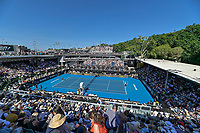 12th January 2020, Auckland, New Zealand;  General view of the court during the Women's singles final at the 2020 Women's ASB Classic at the ASB Tennis Centre, Auckland, New Zealand.