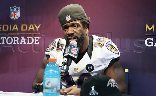 20.01.2013. New Orleans, USA. Baltimore Ravens free safety Ed Reed (20)  during Media Day at Mercedes-Benz Superdome in New Orleans, LA.