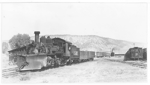 K-27 #452 (leased) in roundhouse lead.<br /> RGS  Ridgway, CO
