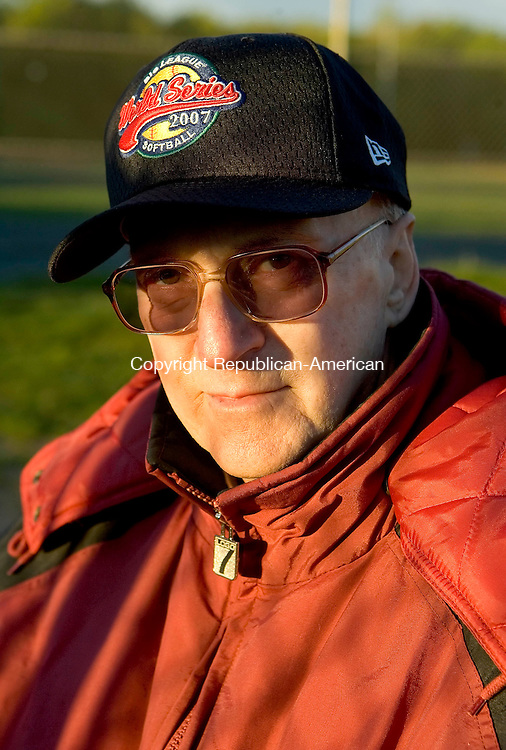 WOLCOTT, CT --MAY 22, 2008-052208JS17-Former Seymour HIgh School softball pitching coach Joe Musante.<br /> Jim Shannon/Republican-American